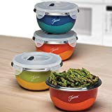 Fiesta Prep 8-Piece Microwave Safe Bowl & Lid Set