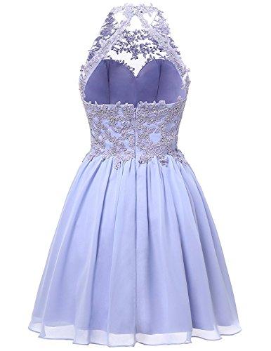 JYDress - Vestido - trapecio - para mujer Lilac