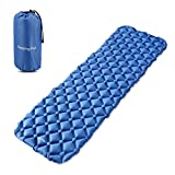 ONSON Sleeping Pad - Ultralight Compact Inflating Pads, Portable Camping Mat Suit for Hiking, Backpacking and Travel - Air Cell Design with Folding Carry Bags Accessories(Blue)