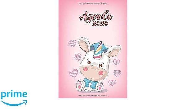 Agenda 2020: Tema Unicornios Rosado Agenda Mensual y Semanal ...