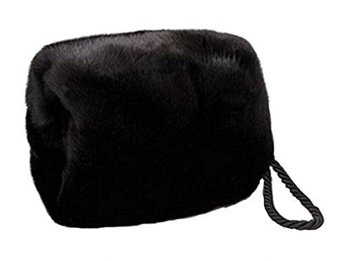 Women's Real Mink Fur Purse Hand Muff by Moda Furs