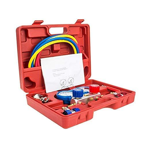 Manifold Gauge Set Diagnostic A//C Tool Kit R22 R134a R410a Refrigeration Brass