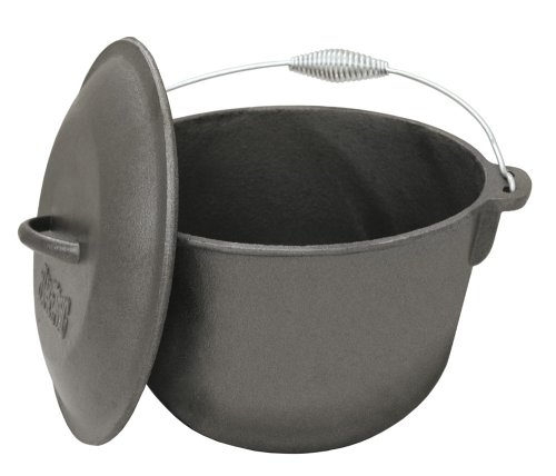 Bayou Classic 7406, 6-Qt. Cast Iron Soup Pot with Cast Iron Lid