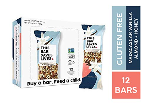 1.4 Ounce Bars - Gluten Free Healthy Granola Snack Bar, Madagascar Vanilla Almond & Honey, 12 Bars, 1.4 oz; by This Saves Lives