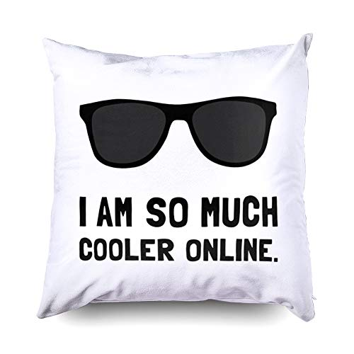 Shorping Zippered Pillow Covers Pillowcases 20X20 Inch Halloween Cooler Online Decorative Throw Pillow Cover,Pillow Cases Cushion Cover for Home Sofa Bedding