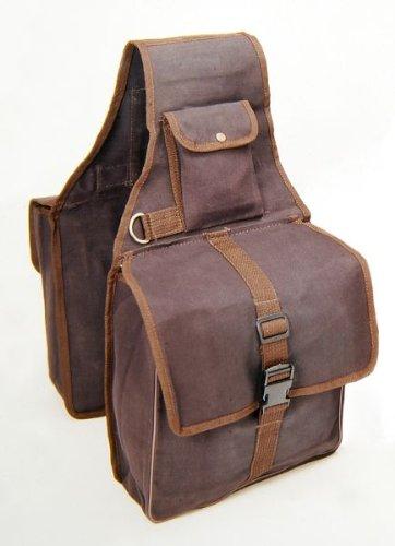 Tough-1 Canvas Saddle Bag for Horses - Brown
