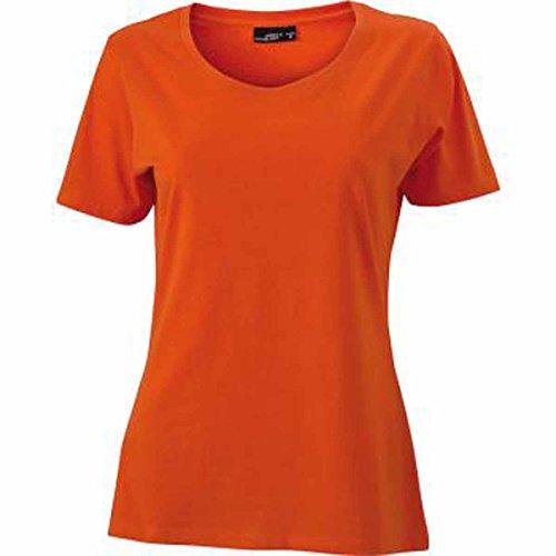 JAMES & NICHOLSON - Camiseta - Básico - Cuello redondo - Manga corta - para mujer orange foncé