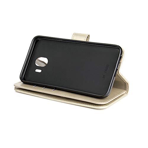 Galaxy 2018 Housse avec Portefeuille J4 Coque Flip Case 2018 9 Samsung 3 Samsung Galaxy Dtachable et pour Dragonne Couches Stand Classique Yobby Cuir Poche Carte Ble Slots J4 Grand tui Or Supporter OPn65S76