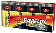 Eveready Gold 9 Volt Batteries, Alkaline 9v Battery (4 Count) A522LP-4