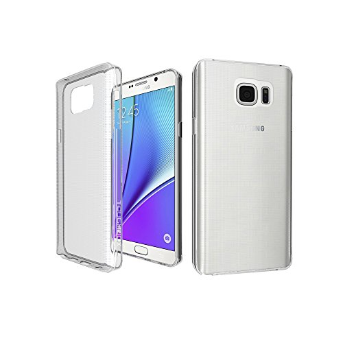 Slim Fit Hybrid Case for Samsung Note 5 (Silver) - 3
