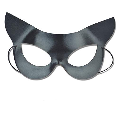 Soochat Sexy Catwoman Mask Half Face Cat Mask Halloween Costumes Masquerade Costume Party -