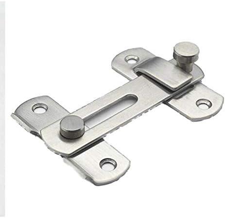 MUMA Stainless Steel Heavy Padlock Hasp 90 Degree Right Angle Door Clasp Door Latch Door Lock For Doors And Windows Color : Without padlock, Size : 5 inch