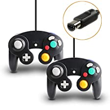 TRVL FIELDER Gamecube Controller, 2 Packs Classic Wired Controllers Compatible with Wii Nintendo Gamecube