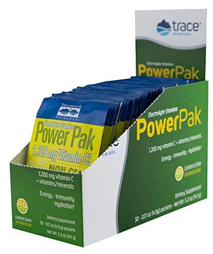 Trace Minerals Electrolyte Stamina Power Pak Lemon Lime, 1200mg Vitamin C packet