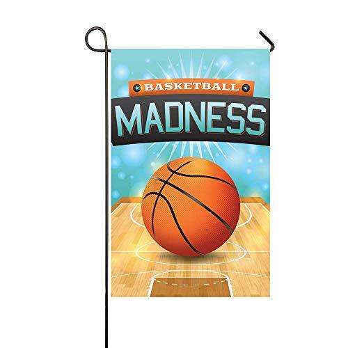 VASQUEZLIA Premium Garden Flag, Basketball Flyer Decorative Garden Flag for Parties Home Outdoor Garden Decor - 18 x 12.5 Inch for $<!--$8.99-->