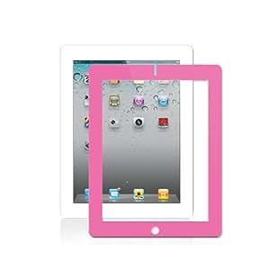 "iBattz Mojo Shield Screen Protector for ""The New iPad"" 3 3rd Generation iPad 2 - 100% Bubble Free w/ Pink Border (Smart Cover Companion)"