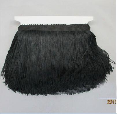 Long Black Lace Trim - 2