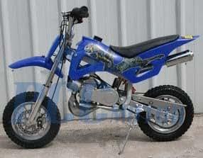 49cc 50cc blue 2 stroke gas motorized mini. Black Bedroom Furniture Sets. Home Design Ideas