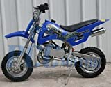 49cc 50cc Blue 2-Stroke Gas Motorized Mini Dirt Pit Bike