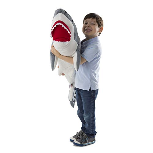 "Melissa & Doug Shark Giant Stuffed Animal (Wildlife, Soft Polyester Fabric, Beautiful Shark Markings, Handcrafted, 13"" H x 41"" W x 16"" L)"