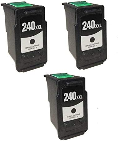 PG-240XXL SuppliesMAX Compatible Replacement for Canon PIXMA MG-2120//3620//4220//MX-372//432//512//522 Black Extra High Yield Inkjet 5204B001AA/_3PK 3//PK-600 Page Yield