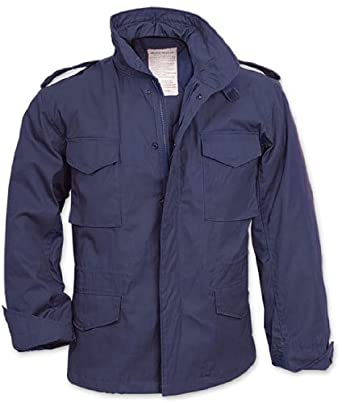 Amazon.com: Navy Blue Military M-65 Field Jacket 8527 Size Large ...
