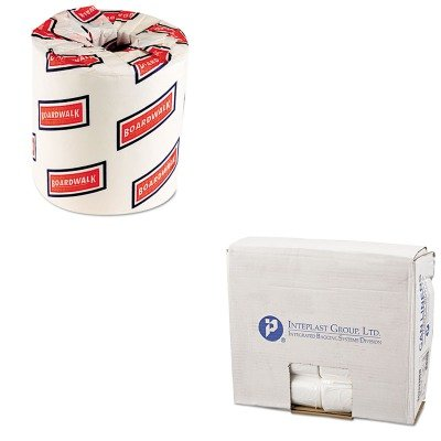 KITBWK6150IBSEC243306N - Value Kit - IBS EC243306N High Density Commercial Coreless Roll Can Liners, Natural (IBSEC243306N) and Boardwalk 6150 Two-Ply Bathroom Tissue (BWK6150)
