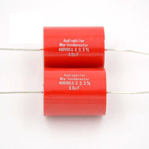2pcs 8uf400 V Audiophiler mkp-kondensotor MKP Tubularオーディオカップリングコンデンサ   B01EHHT6XS