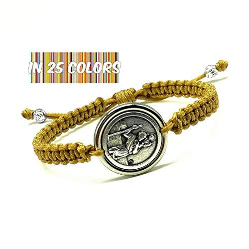 - St Christopher Medal Bracelet Patron Saint of Travel Catholic Protection Religious Gift