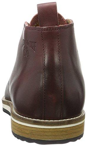 Cycleur de luxe CDL162100B, Zapatos de Cordones Hombre Rojo (Burgundy)