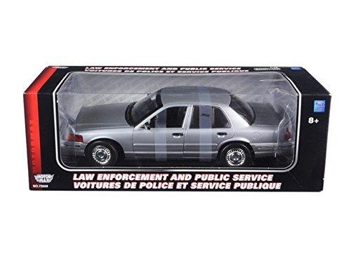 Police Victoria Crown (Motormax 73532 Ford Crown Victoria Police Undercover Special Service Car Silver 1/18 Diecast Model Car)