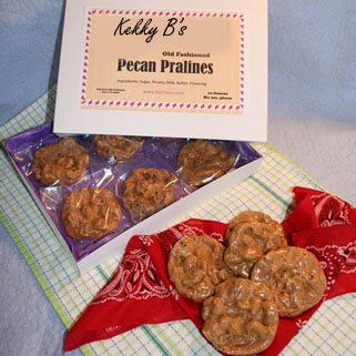 Pralines - Old Fashioned Southern Style / 6 Pieces/Individually Wrapped & Boxed / 12 Oz. -