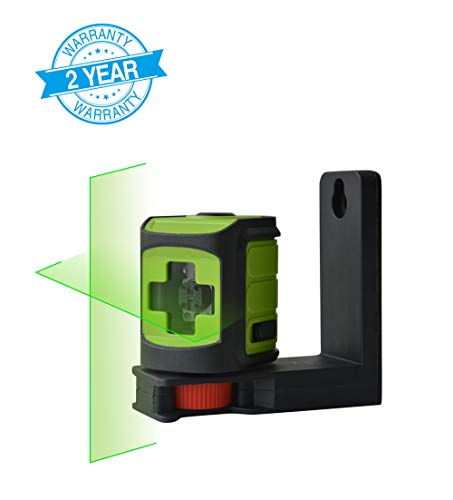 - MAKINGTEC SA-02CG Laser Level Self-Leveing, Horizontal and Vertical Lines, Mini Cross Line Laser for DIY with Magnetic Bracket Green Laser Beam/Green Color