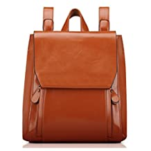 Greeniris Ladies Faux Leather Casual Backpack School Backpack for Women Shoulder Bag Women's Backpack Fashion
