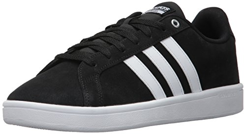 adidas Men's Cf Advantage Sneakers, Black/White/Matte Silver, (13 M (Adidas Mens Slip)
