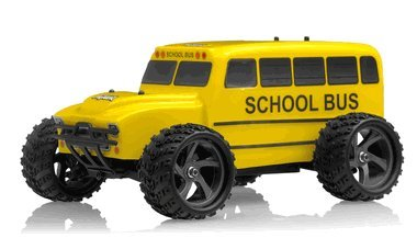 10 Electric 4wd Truck (Iron Track Electric Yellow Bus 1:18 4WD Truck Ready to Run RC Remote Control Radio Car)