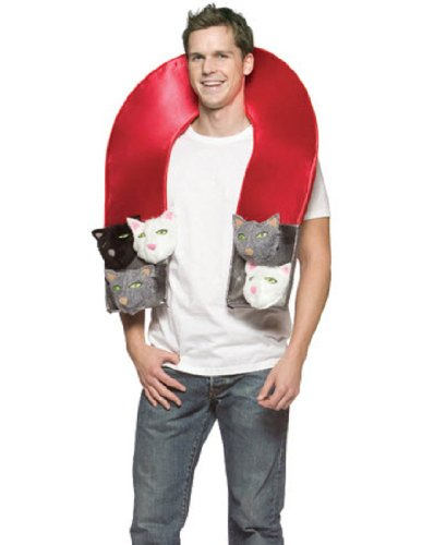 Comedy Halloween Costume Ideas (Rasta Imposta Pussy Magnet, Red, One Size)