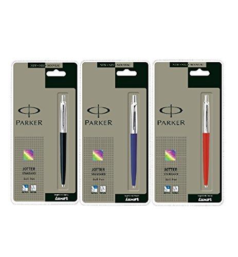 Parker Jotter 3 Colours - 1 Black + 1 Blue + 1 Red Ballpoint Pen
