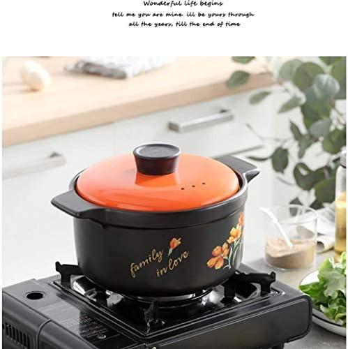 土鍋 ポットセラミックキャセロール健康スープ鍋シチュー鍋ホームの高温度ジャーキャセロール料理 (Size : 5.0L)