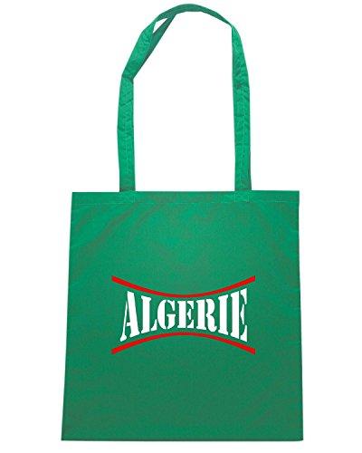 T-Shirtshock - Bolsa para la compra WC0010 ALGERIE ALGERIA Verde