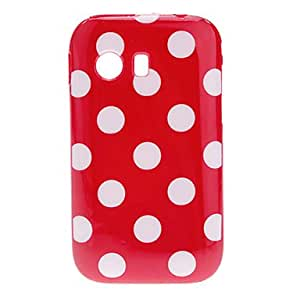 Fashion Design Dots Smooth TPU Case Cover for Samsung Galaxy S5360 --- COLOR:Black