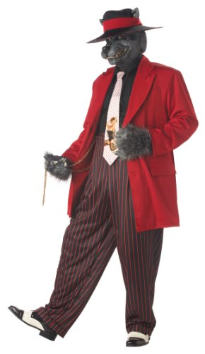 Mens LG (42-44)- Dapper Howlin Good Time (Zoot Suit Costume Tie)
