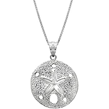 eeb2ec24c Honolulu Jewelry Company Sterling Silver Sand Dollar Necklace Pendant with  18
