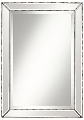 Glass Pewter Mirror - Roseau Silver Pewter 24