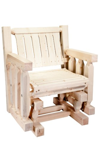 Natural Finish Homestead - Montana Woodworks Homestead Collection Single Seat Glider, Ready to Finish
