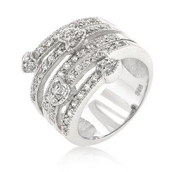 Cubic Zirconia Medusa Hearts Ring