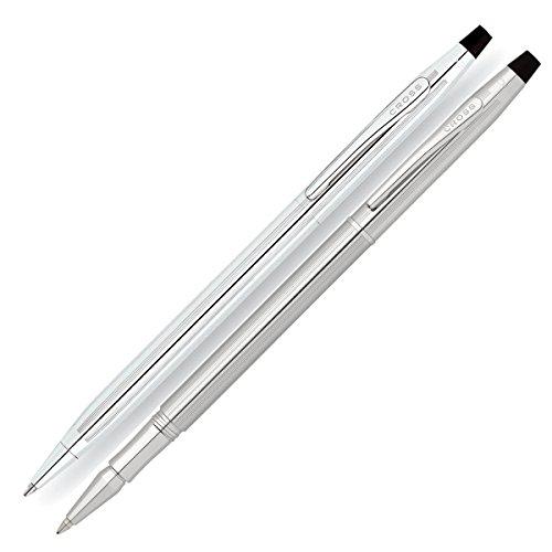 Cross Classic Century Ballpoint Pen and Rollerball Set Chrome