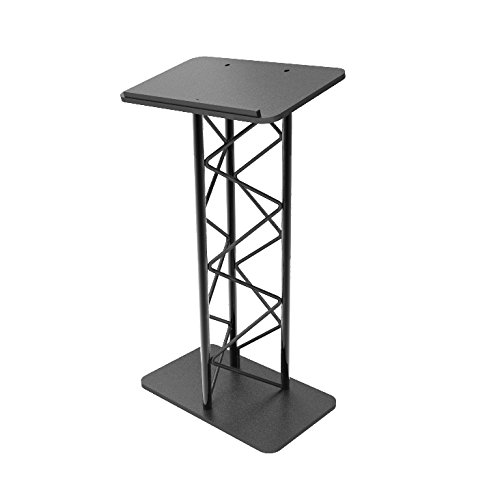 - FixtureDisplays Truss Metal and Wood Podium Pulpit Lectern Church School Restaurant Reception with Cup Holder 11566