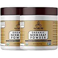 Naturevibe Botanicals USDA Organic Neem Leaf Powder 16 Ounces (2 Unit of 8oz Each) - Azadirachta Indica - 100% Pure & Natural | Supports Immunity System