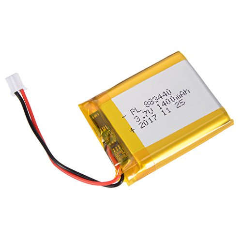 uxcell Power Supply DC 3.7V 1400mAh 883440 Li-ion Rechargeable Lithium Polymer Li-Po Battery